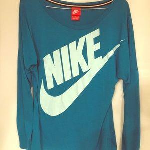 Nike logo long sleeve dolman top